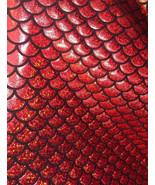 4-Way Stretch Red Mermaid Hologram Spandex Meta... - $16.99
