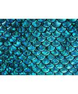 4-Way Stretch Blue Mermaid Hologram Spandex Met... - $16.99