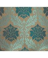 10 yards Parisian Jacquard Aqua upholstery drap... - $199.00