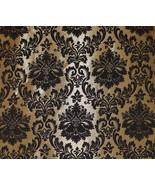 Barron Gold Damask Pattern Chenille Upholstery ... - $19.95