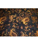 Monique Black Floral Chenille 100% polyester 57... - $14.95