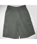 Covington Boys Cargo Shorts Green Adjustable Sz 12 - $5.00