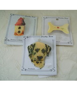 Pins/Brooches, Set of 3 Pet Themed Plastic: Dog... - $10.00