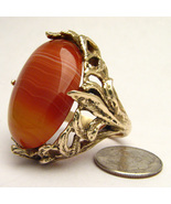 Handmade 14kt Gold Red/White Sardonyx Massive C... - $2,797.56