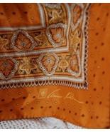 Vintage Anne Klein Butterscotch Paisley Silk Sc... - $13.00