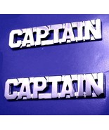 Captain Collar Pin Set Nickel Cut Out Letters P... - $15.45