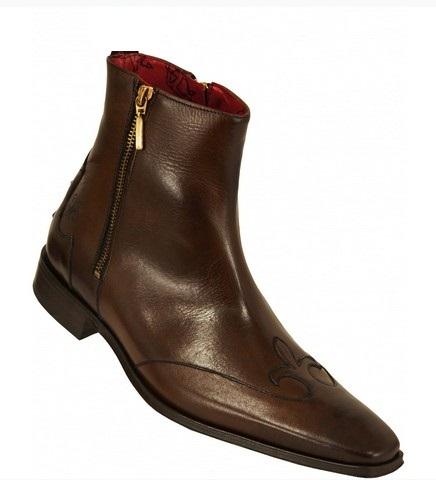 handmade kenda zipper leather boots mens ankle