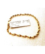 24KT GOLD OVER .925 STERLING BRACELET - STAMPED... - $39.11