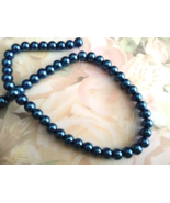 Blue Faux Pearl Bead 8mm Lot of 25 Jewelry Maki... - $2.50