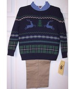 NWT Good Lad Boy's 3 Pc. Holiday Reindeer Sweat... - $17.99