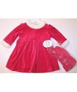 NWT All Mine Mrs. Santa Claus Velour Dress & Ca... - $18.99