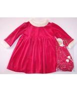 NWT All Mine Girl's Mrs. Santa Claus Red Velour... - $20.99
