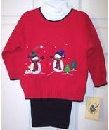 NWT Good Lad Boy's 3 Pc Red Snowman Sweater Set... - $17.99