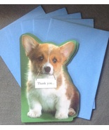 6 Welsh Corgi Puppy Dog Thank You Cards with li... - $9.99