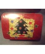 Christmas Holiday Red Christmas tree Music Rect... - $3.00