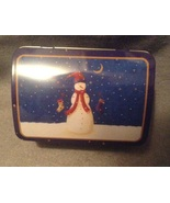 Christmas Holiday Blue Snowman Stocking Rectang... - $3.00