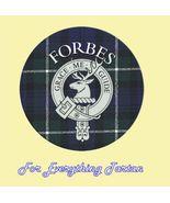 Clan Forbes Clan Crest Tartan Cork Round Coaste... - $25.00