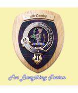 Clan MacCoombs Tartan Woodcarver Wooden Wall Pl... - $120.00