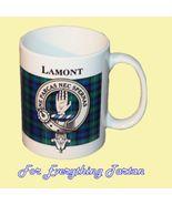 Lamont Tartan Clan Crest Ceramic Mug Clan Badge... - $29.00