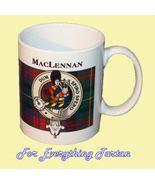 MacLennan Tartan Clan Crest Ceramic Mug Clan Ba... - $29.00