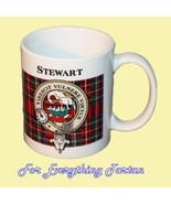 Stewart Tartan Clan Crest Ceramic Mug Clan Badg... - $29.00