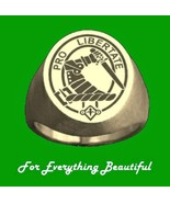 Clan Badge Engraved Oval Clan Crest 10K Yellow ... - $960.00