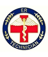 ER Technician Lapel Pin Emergency Room Tech Red... - $12.57