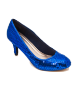 Sequin Royal Blue 3 Inch High Heels Dress Shoes... - $99.99