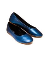 Glitter Navy Blue Ballet Flats Slippers Custom ... - $49.99