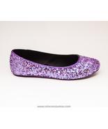 Sequin Lavender Purple Slipper Ballet Flats Sho... - $39.99