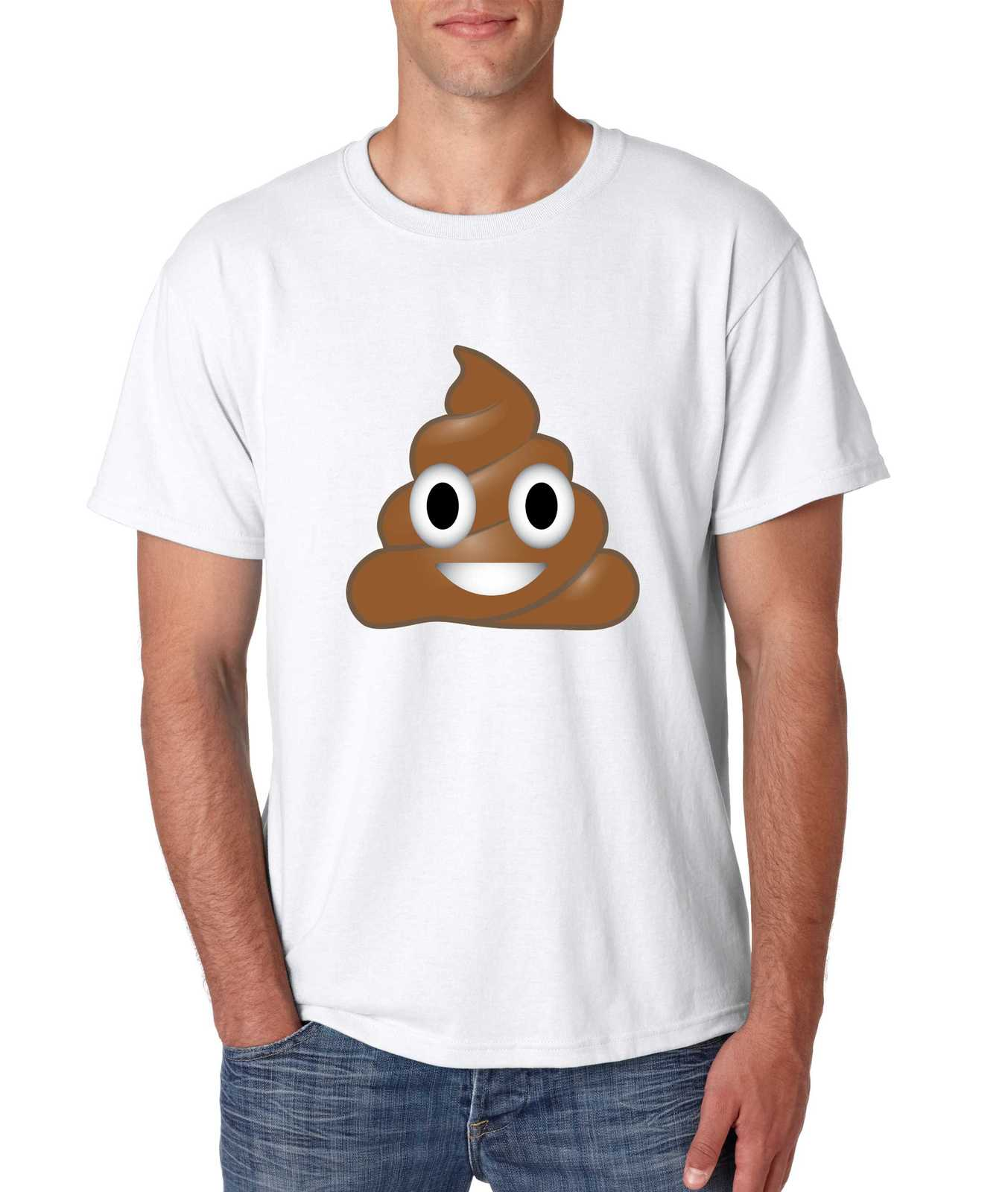 men 39 s tee shirt poop emoji t shirts tank tops. Black Bedroom Furniture Sets. Home Design Ideas