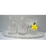 Creamer Sugar Spooner Lead Crystal 4pc & platte... - $26.50