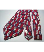 Robert Talbott Necktie mens designer red blue f... - $11.50