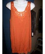 Tank Tee Shirt women by Bandolino Orange waist ... - $10.35