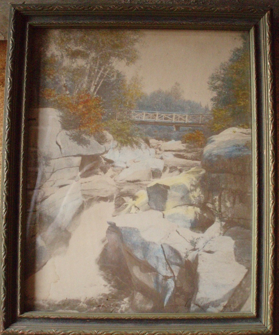 David Davidson hand tint photo Flume Catwalk Franconia NH