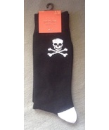 1 Pair Men's Black & White Skull & Crossbones P... - $4.99