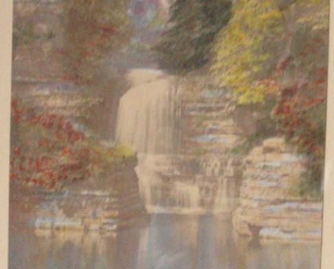 Charles Sawyer hand paint photo The Swimming Hole