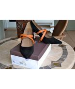 NIB $428 ANYI LU Sophia Pumps Shoes Black Suede... - $194.92
