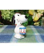 Snoopy Peanuts Ceramic ornament Snoopy with blue drum