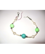 Beautiful Silver Turquoise Pearl Bracelet - $15.00