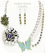 Sophia Maria Jewelry necklace set with butterfl... - $19.80