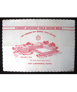 1960 Fort Leavenworth Kansas Placemat Officer F... - $6.92