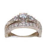 Women's 1.50 Ct Two Piece Cz Wedding Ring Set S... - $39.99