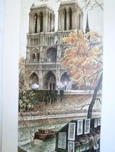 Paris Notre Dame Print  10x23  Ortiz Alfau (Art... - $57.82