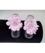 NEWBORN BABY GIRL HANDMADE PINK SATIN & LACE BA... - $8.99