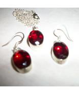 14mm RED Garnet   Sterling Silver  EARRINGS +PE... - $37.99