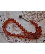 Prayer beads-German faceted Amber Komboloi-Tasbih - $141.55