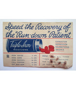 Sealed Antique patent medicine pills Triple Iro... - $8.90