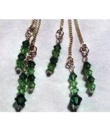 Sterling Swarovski Chrysolite and Ernite Ear Th... - $15.00