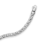 Oxidized Sterling Silver Wheat Chain Bracelet - $359.95